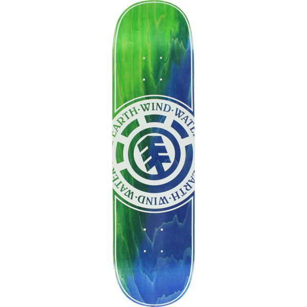 "Element Skateboards Seal Green / Blue Skateboard Deck - 8"" x 32.06"""