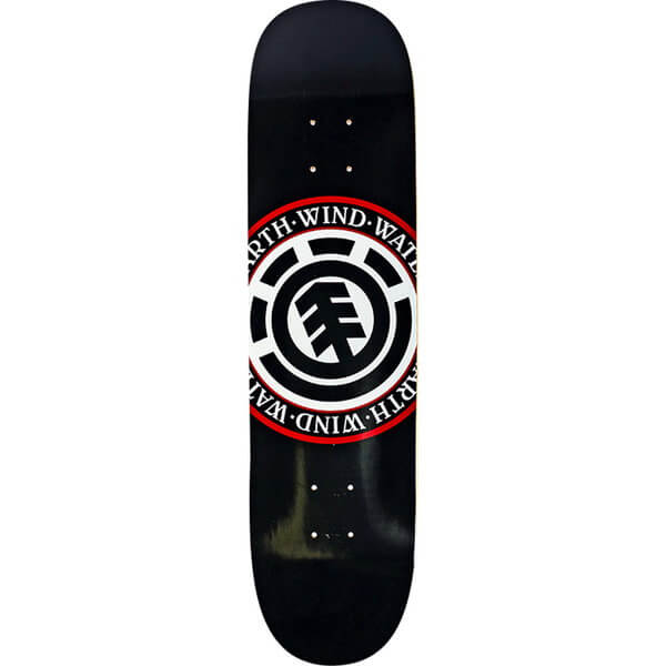 "Element Skateboards Elemental Seal Black Skateboard Deck - 8.5"" x 32.7"""