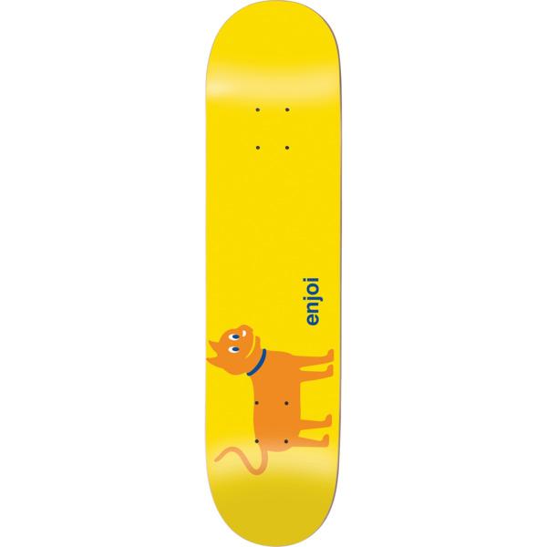 """Enjoi Skateboards Cat Yellow / Orange Skateboard Deck Resin-7 - 8.25"""" x 32.1"""""""