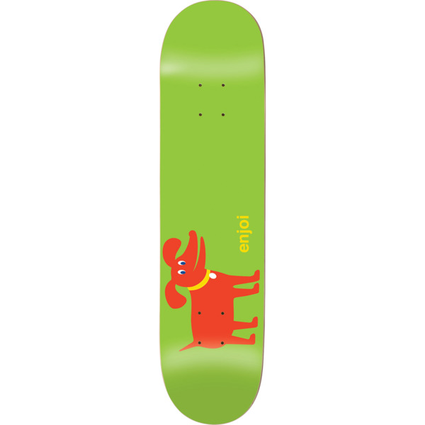 "Enjoi Skateboards Dog Green / Red Skateboard Deck Resin-7 - 8.12"" x 31.8"""