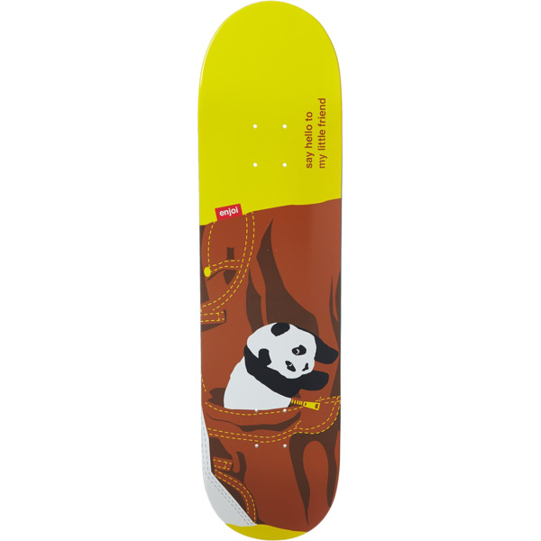 "Enjoi Skateboards Little Friend with Brown Pants Cruiser Skateboard Deck Resin-7 - 8"" x 31.7"""