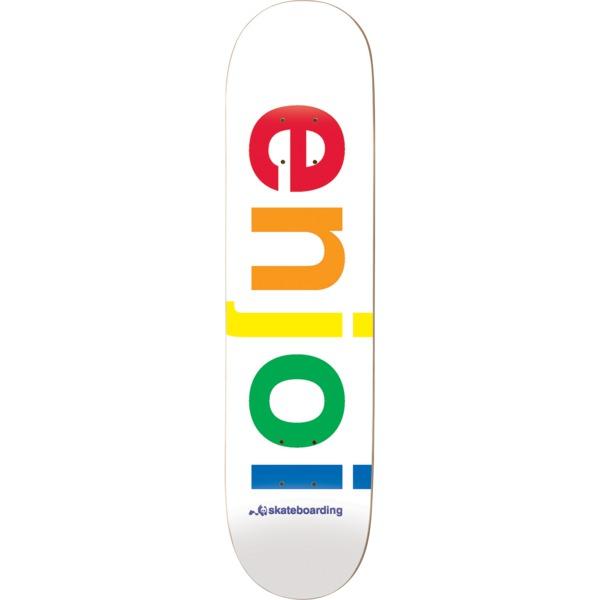 "Enjoi Skateboards Spectrum White Skateboard Deck - 9"" x 32.4"""