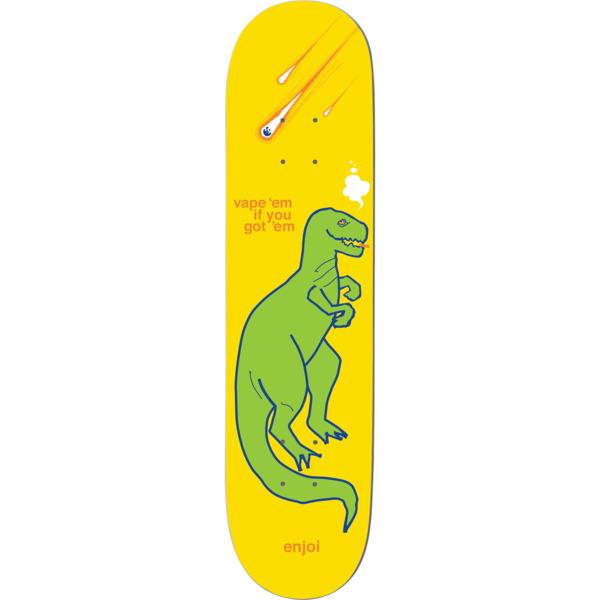 "Enjoi Skateboards Vapeem Yellow Skateboard Deck - 8.75"" x 32"""