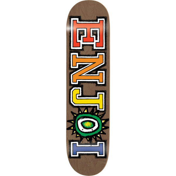 "Enjoi Skateboards What's The Deal Brown Skateboard Deck Resin-7 - 8.37"" x 32.1"""