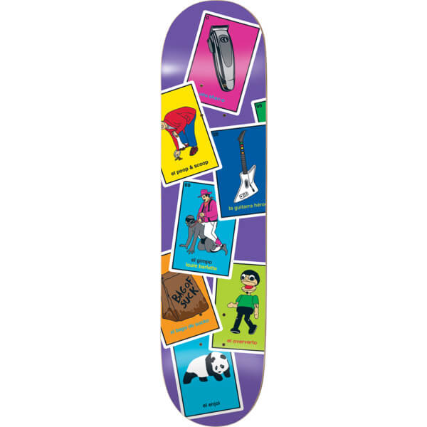"Enjoi Skateboards Louie Barletta La Loteria Skateboard Deck Resin-7 - 8.25"" x 31.6"""