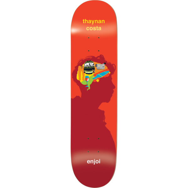 "Enjoi Skateboards Thaynan Costa Brain Waves Skateboard Deck Resin-7 - 8.37"" x 31.7"""