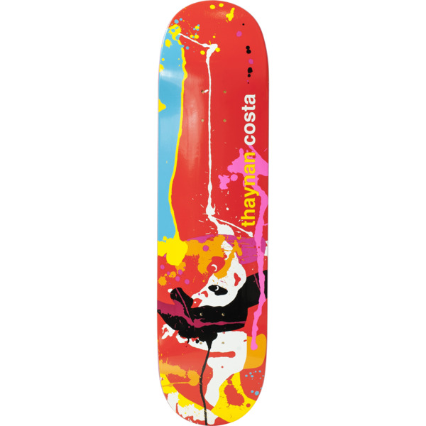 "Enjoi Skateboards Thaynan Costa Splatter Panda Skateboard Deck Resin-7 - 8.75"" x 31.8"""