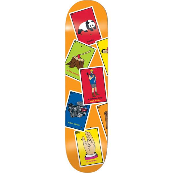 "Enjoi Skateboards Zack Wallin La Loteria Skateboard Deck Resin-7 - 8.37"" x 31.7"""