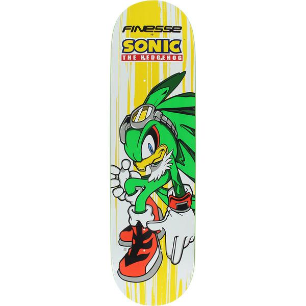 "Finesse Skateboards Sega Sonic Jet the Hawk Skateboard Deck - 8"" x 31.75"""
