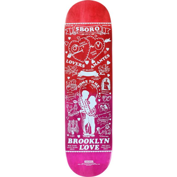 "5Boro NYC Skateboards Lucky Candle Brooklyn Fade Skateboard Deck - 8.25"" x 32"""