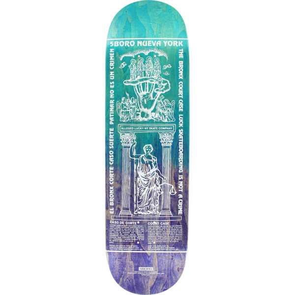 "5Boro NYC Skateboards Lucky Candle Bronx Fade Skateboard Deck - 8.12"" x 32"""