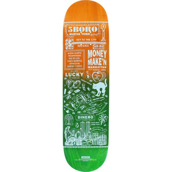 """5Boro NYC Skateboards Lucky Candle Manhattan Fade Skateboard Deck - 8"""" x 32"""""""
