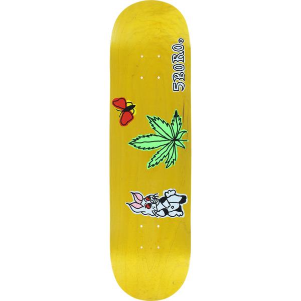 "5Boro NYC Skateboards Stoned Again Yellow Skateboard Deck - 8"" x 32"""