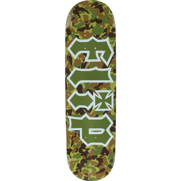 "Flip Skateboards HKD Combat Green Skateboard Deck - 8.25"" x 32.38"""