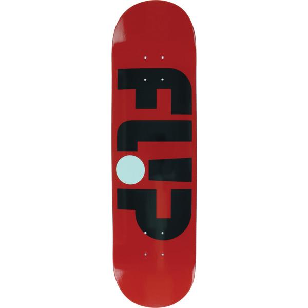 "Flip Skateboards Odyssey Logo Red Skateboard Deck - 8.13"" x 31.5"""