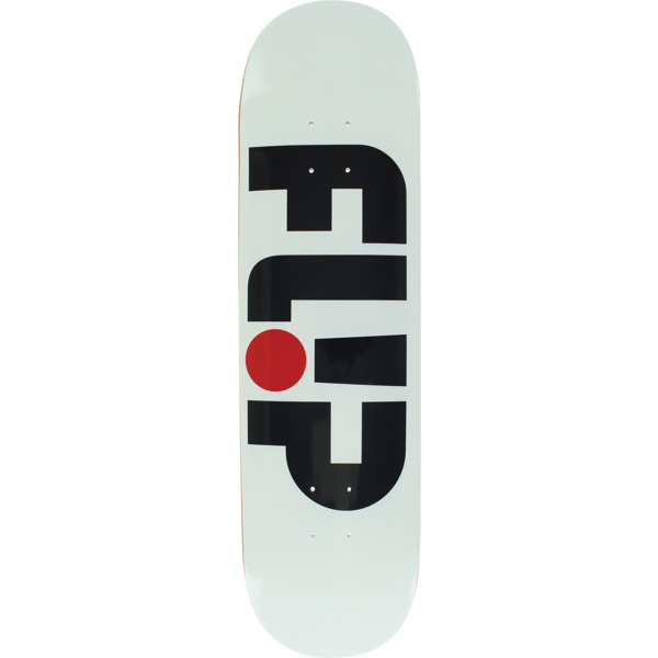 "Flip Skateboards Odyssey Logo White Skateboard Deck - 8.25"" x 32.75"""