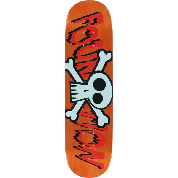 """Foundation Skateboards Crossbones Assorted Colors Skateboard Deck - 8"""" x 31"""""""