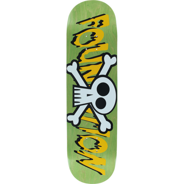 "Foundation Skateboards Crossbones Assorted Colors Skateboard Deck - 8.25"" x 31.75"""