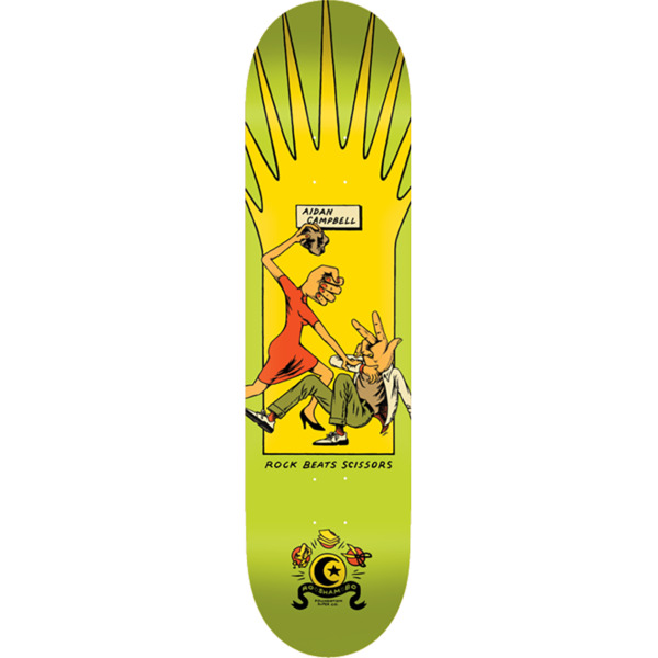 "Foundation Skateboards Aidan Campbell Roshambo Skateboard Deck - 8.5"" x 32.5"""