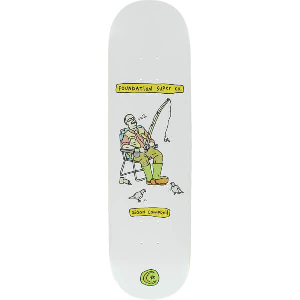 "Foundation Skateboards Aidan Campbell Senior Citizen Skateboard Deck - 8.25"" x 31.5"""