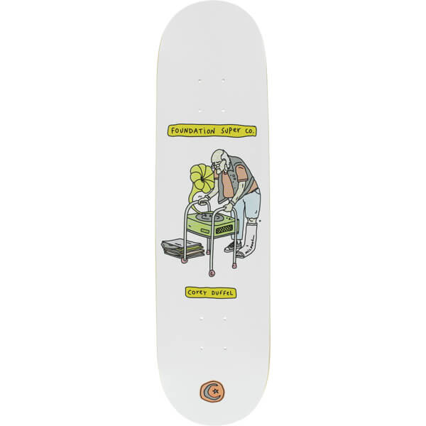 "Foundation Skateboards Corey Duffel Senior Citizen Skateboard Deck - 8"" x 32.25"""
