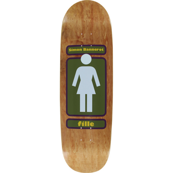 "Girl Skateboards Simon Bannerot 93 Til WR37 Skateboard Deck - 9.25"" x 32"""