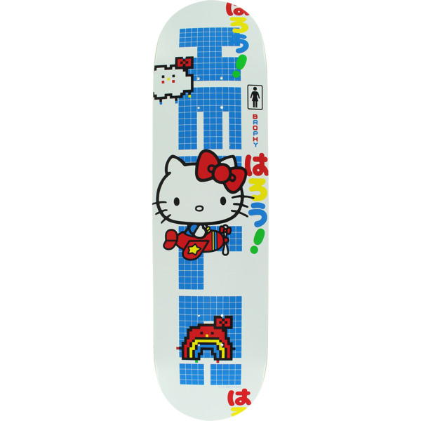 "Girl Skateboards Andrew Brophy Hello Kitty 45th Skateboard Deck - 8"" x 31.5"""