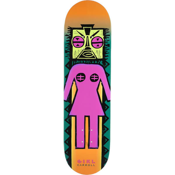 "Girl Skateboards Mike Carroll Tiki OG Skateboard Deck - 8.37"" x 31.75"""