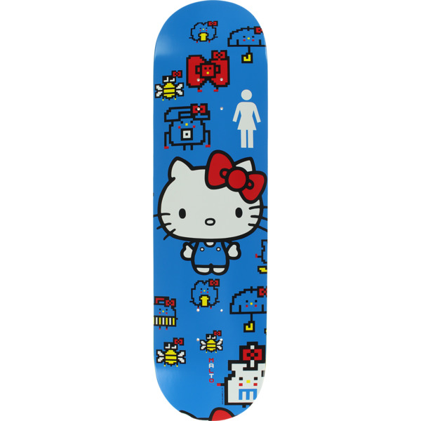 "Girl Skateboards Sean Malto Hello Kitty 45th Skateboard Deck - 8.25"" x 31.75"""