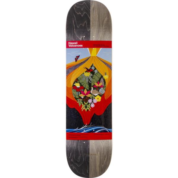 "Habitat Skateboards Charley Harper Hawaii Volcanoes Skateboard Deck - 8.12"" x 31.75"""