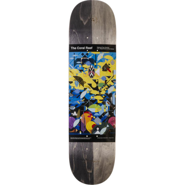 "Habitat Skateboards Charley Harper The Coral Reef Skateboard Deck - 8"" x 31.5"""