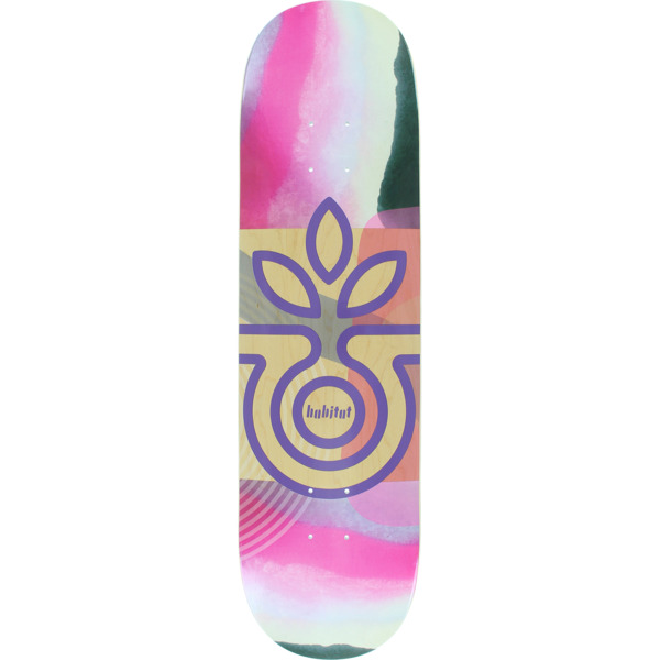 "Habitat Skateboards Elena Johnston Cirrus Natural / Pink Skateboard Deck - 8.37"" x 32"""
