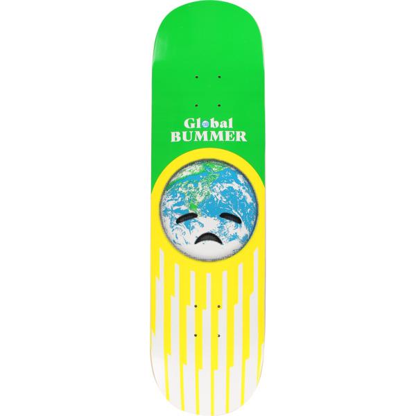 "Habitat Skateboards Global Bummer Green / White / Yellow Skateboard Deck - 8.25"" x 31.75"""