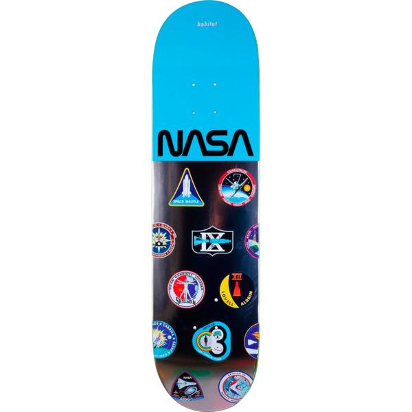 "Habitat Skateboards NASA Logo Array Blue Skateboard Deck - 8.25"" x 32.125"""