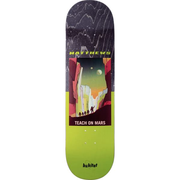 "Habitat Skateboards Josh Matthews NASA Skateboard Deck - 8.5"" x 32.75"""