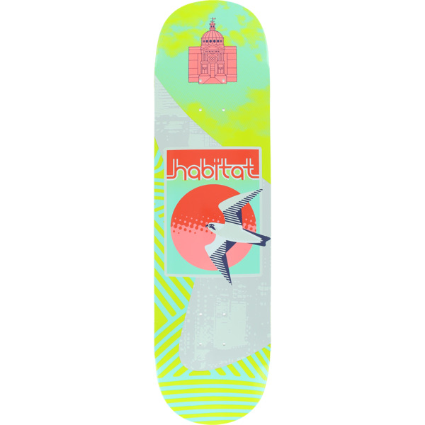 "Habitat Skateboards Suciu New Dawn Green Skateboard Deck - 8.25"" x 31.75"""
