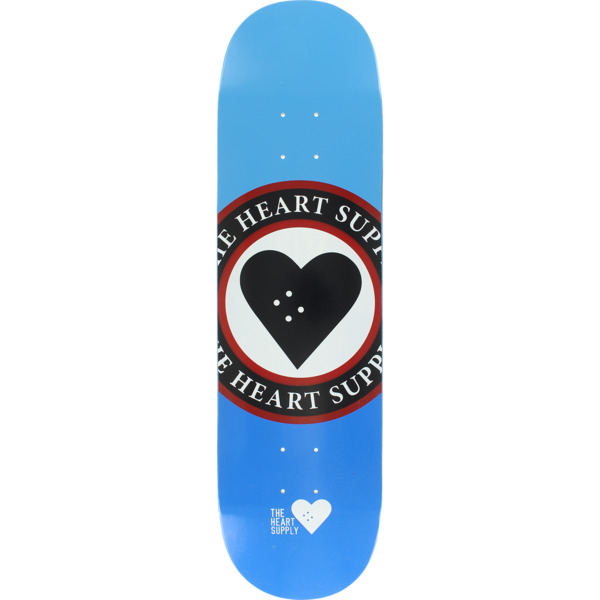 """The Heart Supply Insignia Blue Skateboard Deck Limited Edition - 8.25"""" x 32"""""""