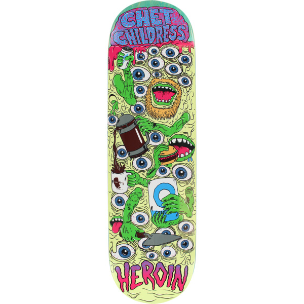 "Heroin Skateboards Chet Childress Mutation Skateboard Deck - 8.75"" x 32.25"""