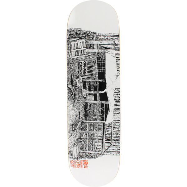 "Heroin Skateboards Craig Questions Scott Cabin II Skateboard Deck - 8.62"" x 32.25"""