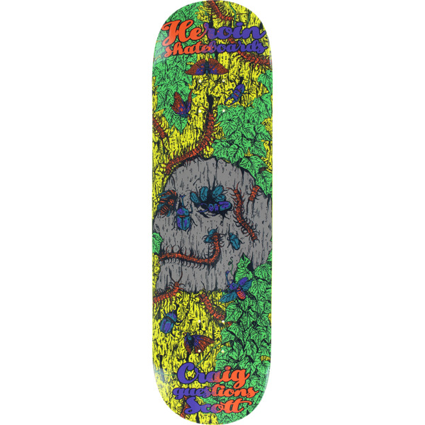 "Heroin Skateboards Craig Questions Scott Illusion Skateboard Deck - 8.5"" x 32.25"""