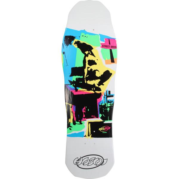 "Hosoi Skateboards Pop Art White Old School Skateboard Deck - 10.5"" x 31"""