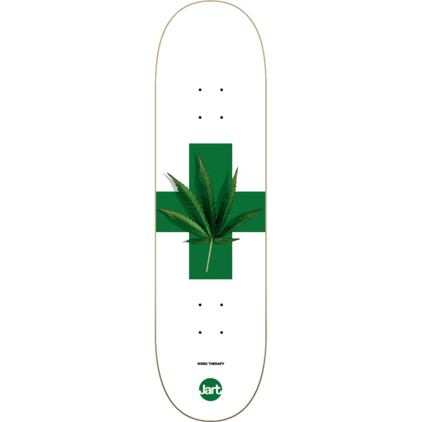 "Jart Skateboards Weed Therapy Skateboard Deck - 8.25"" x 31.85"""