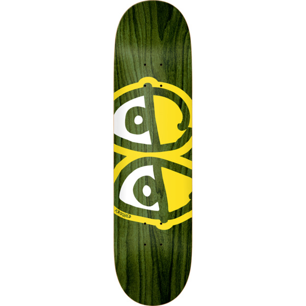 "Krooked Skateboards Eyes Assorted Stains Skateboard Deck - 8.06"" x 31.8"""