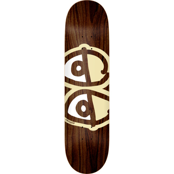 "Krooked Skateboards Eyes Assorted Stains Skateboard Deck - 8.75"" x 32.75"""