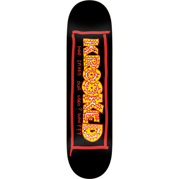 "Krooked Skateboards Team Spiked Black Skateboard Deck - 8.5"" x 31.85"""