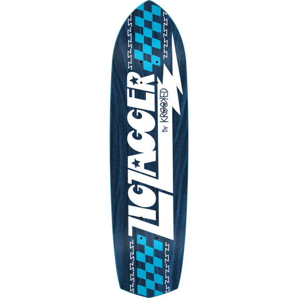 "Krooked Skateboards Zagger RGB Blue Skateboard Deck - 8.62"" x 32.38"""