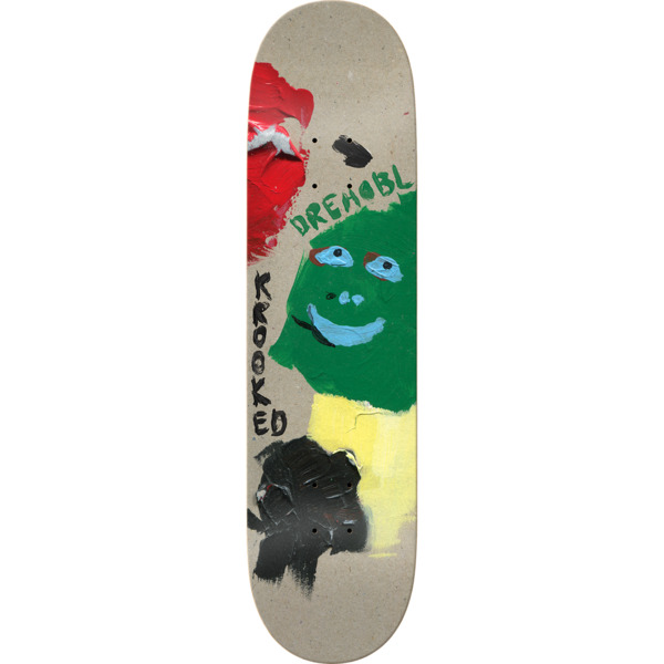 "Krooked Skateboards Dan Drehobl Paint Smudge Skateboard Deck - 8.38"" x 32.25"""