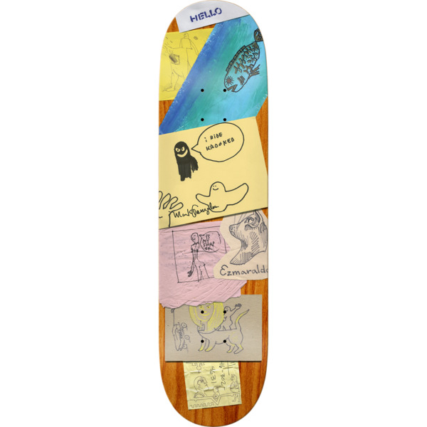 "Krooked Skateboards Mark Gonzales My Shap Skateboard Deck - 8.25"" x 32.22"""