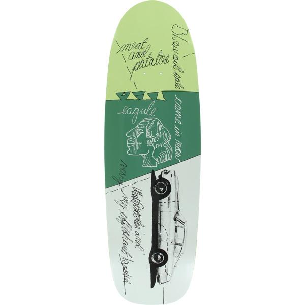 "Krooked Skateboards Mark Gonzales Very Effishant White / Green Skateboard Deck - 9.87"" x 33.5"""