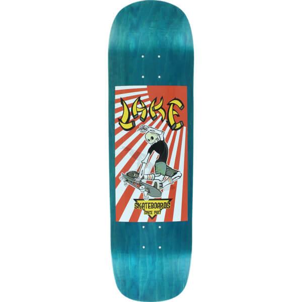 """Lake Skateboards Rising Sun Blue Stain Skateboard Deck - 8.75"""" x 32.5"""""""